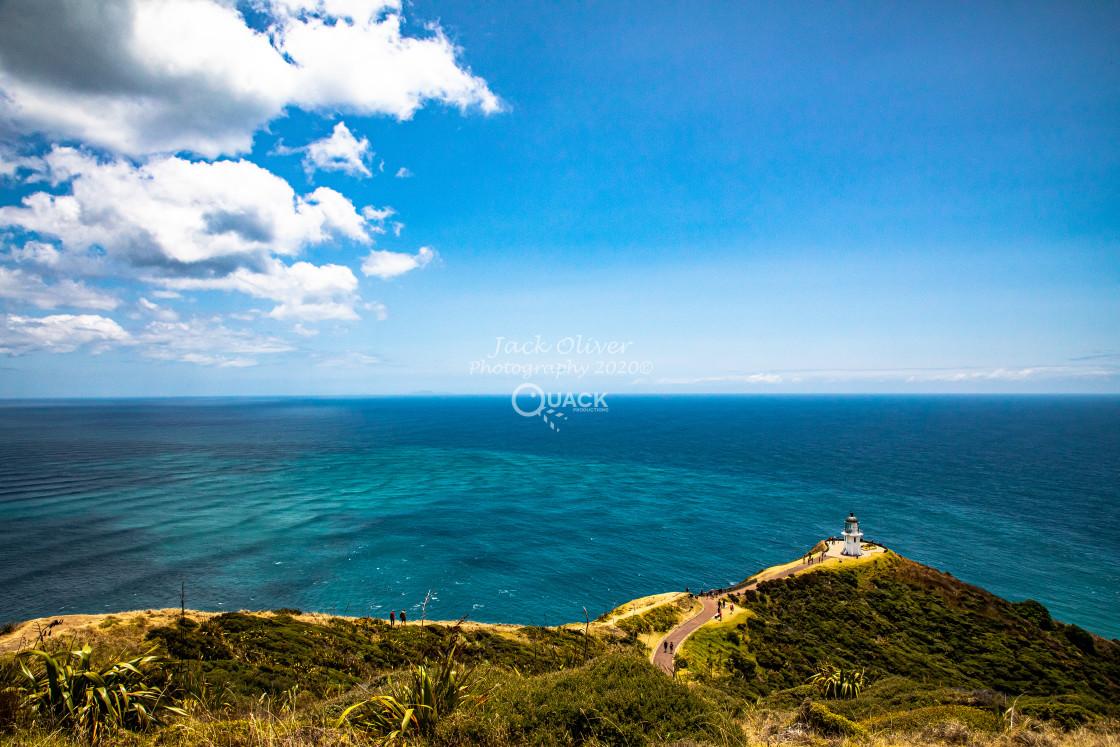 """Cape Reinga Lighthouse"" stock image"