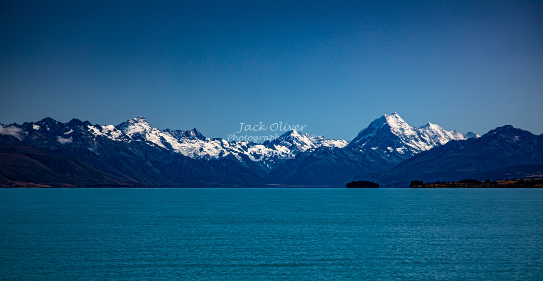 """""""Snow Capped Mountains"""" stock image"""