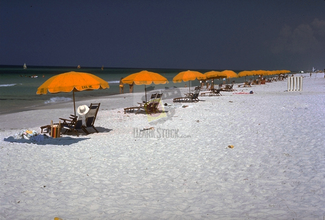 """Umbrellas on the Beach"" stock image"