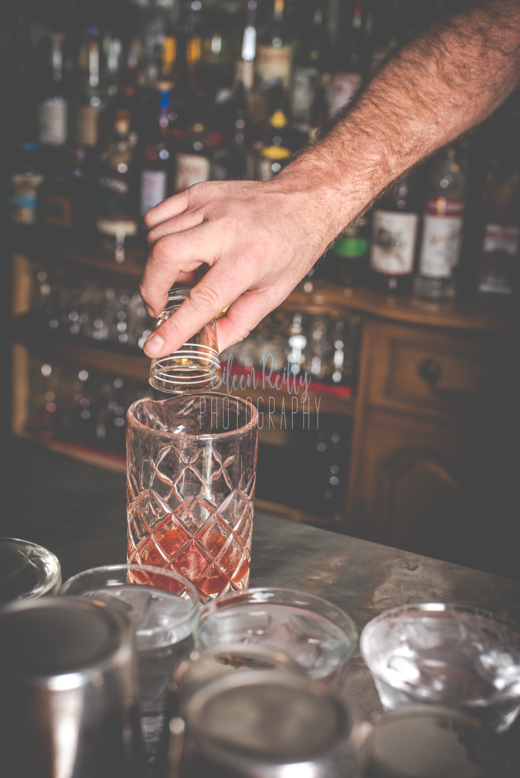 """""""Mixing a drink"""" stock image"""