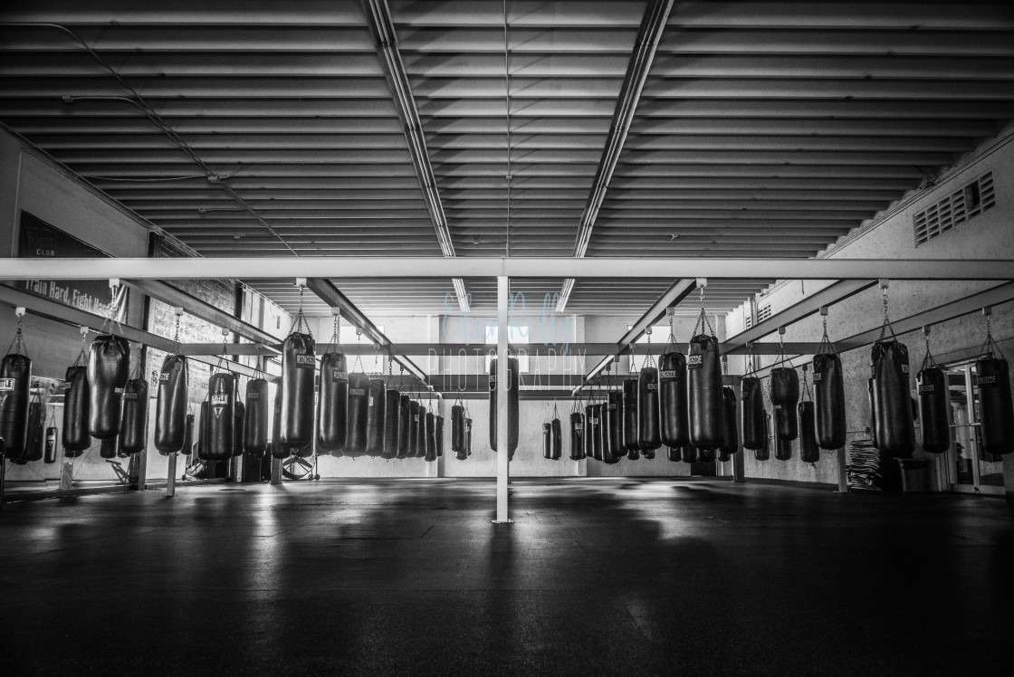 """Boxing gym"" stock image"