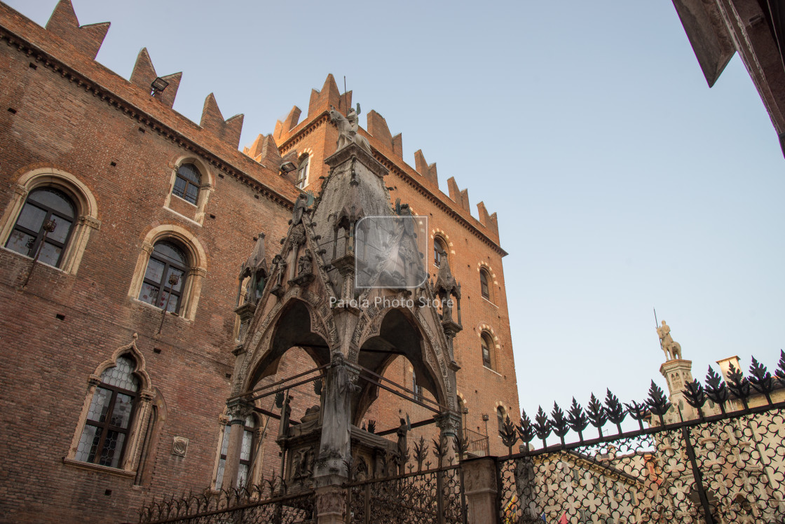 """Scaliger tombs gothic in Verona, Italy"" stock image"