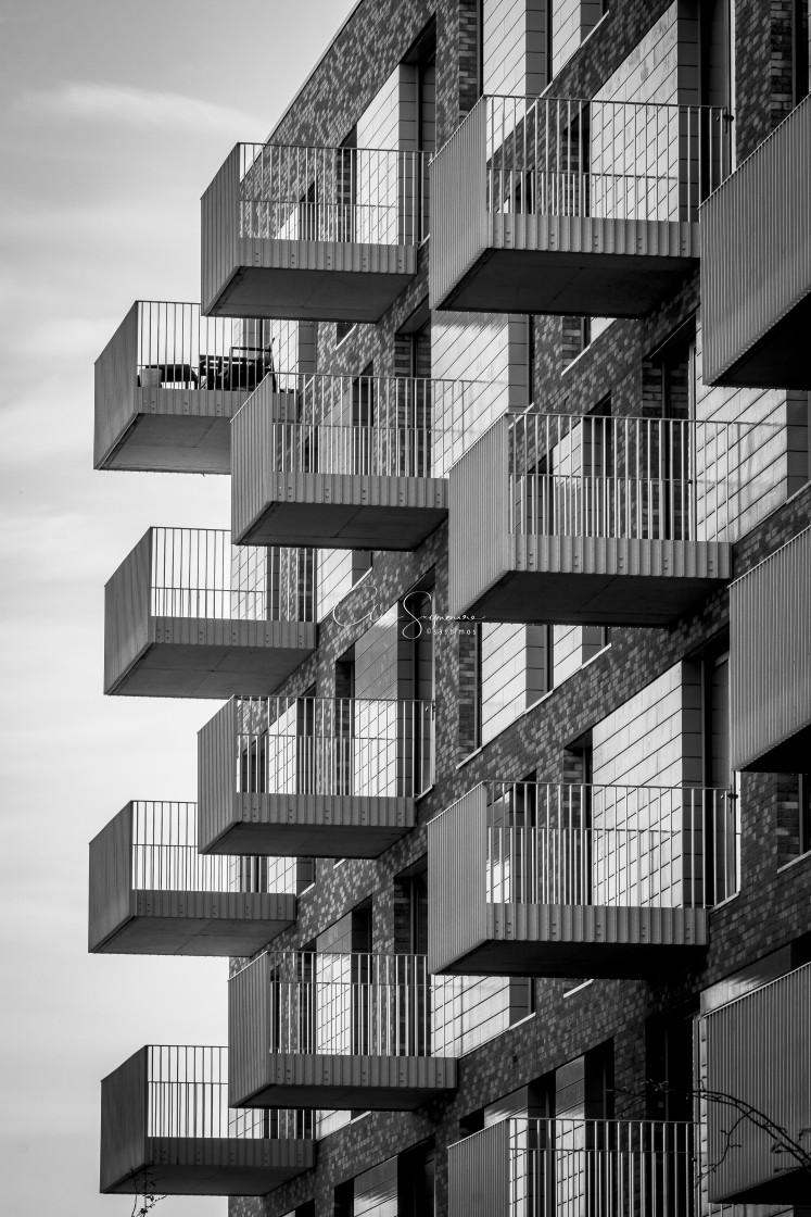 """Apartment Balconies"" stock image"