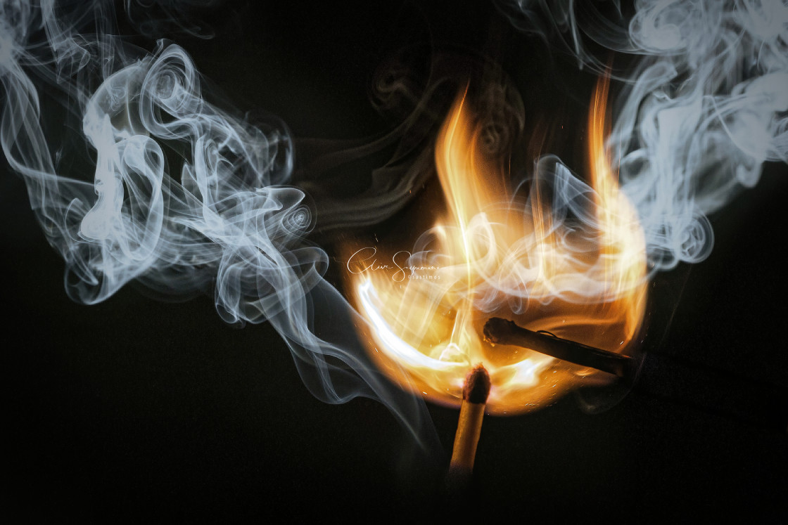 """No smoke without fire"" stock image"
