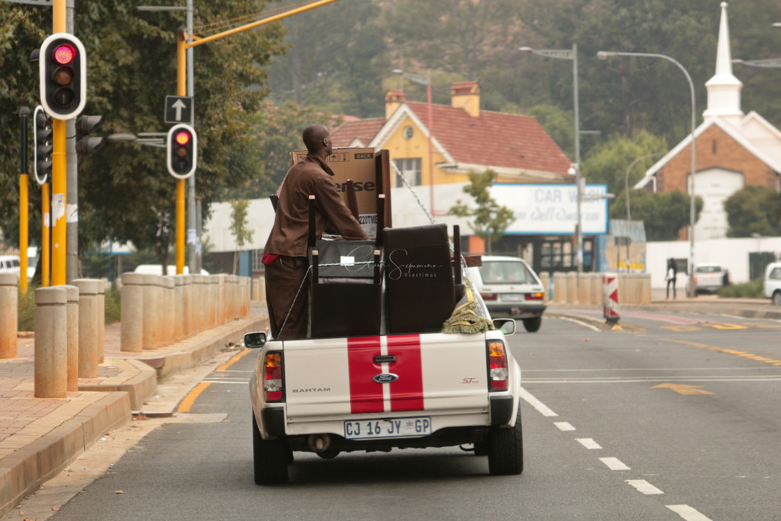 """""""Transporting goods, South African style."""" stock image"""