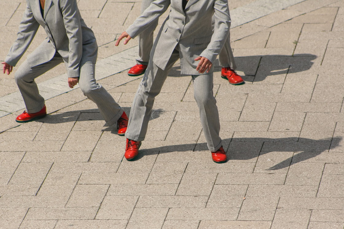 """Grey Suits and Orange shoes"" stock image"