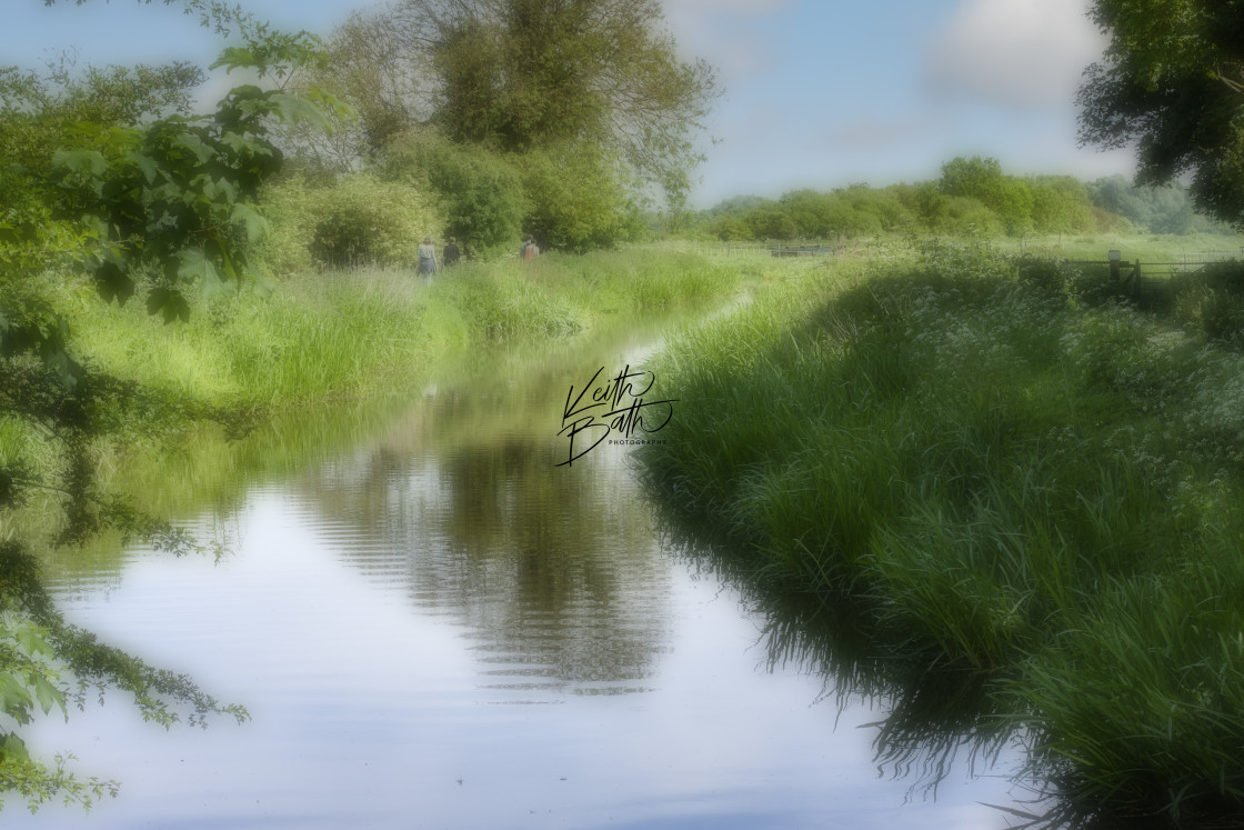 """River Anglesey Abbey Cambs."" stock image"