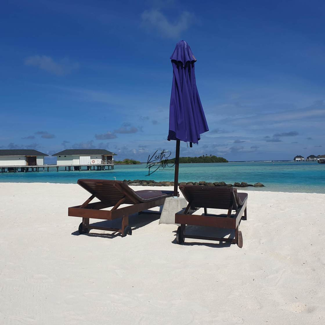 """Deserted beach in Maldives"" stock image"