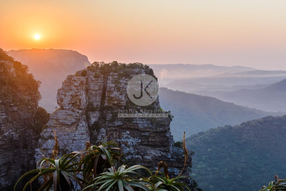 """""""Oribi Gorge Sunrise"""" stock image"""
