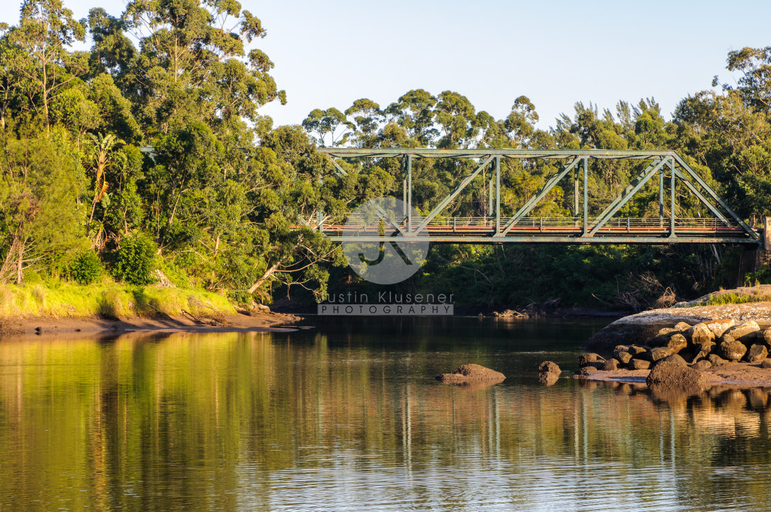 """""""Old Bridge and River"""" stock image"""