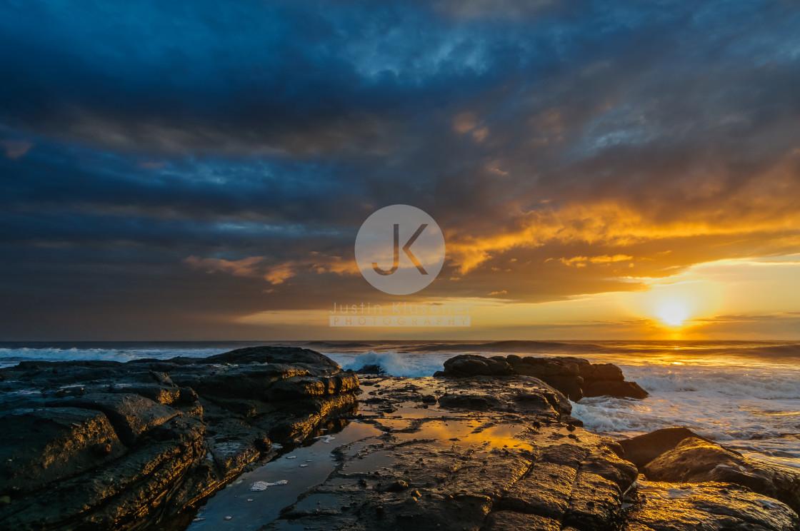 """""""Stormy Sunrise"""" stock image"""
