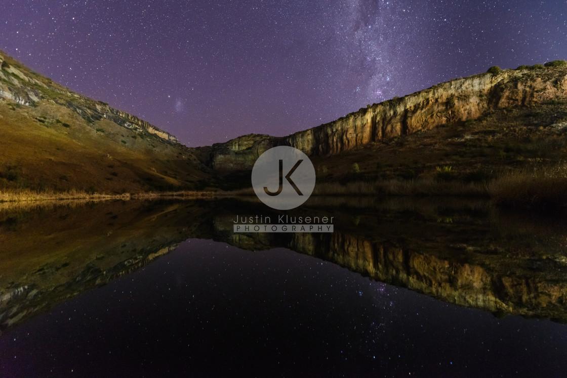 """Milky Way reflection"" stock image"