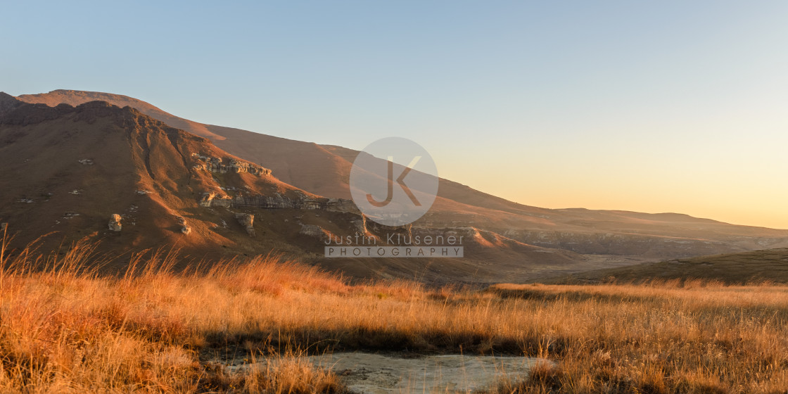 """Maluti Mountain Sunrise"" stock image"