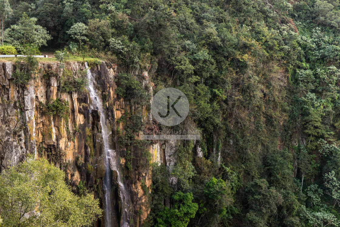 """Qunu Falls Gorge"" stock image"