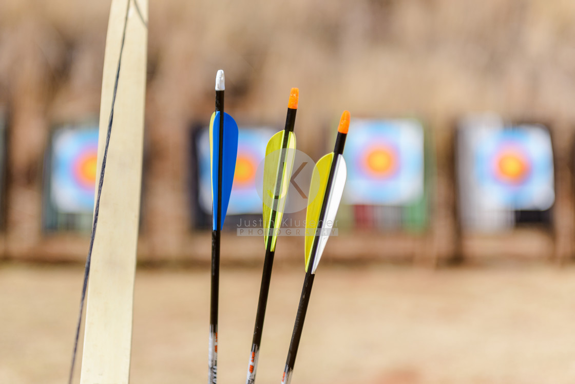 """""""Bow and Arrows close up"""" stock image"""