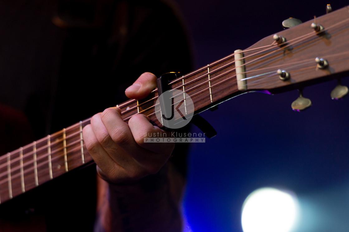 """Guitar player hand"" stock image"