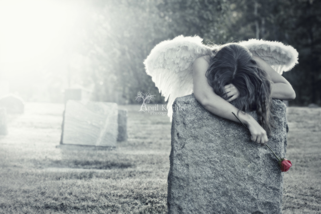 """Mourning Angel"" stock image"
