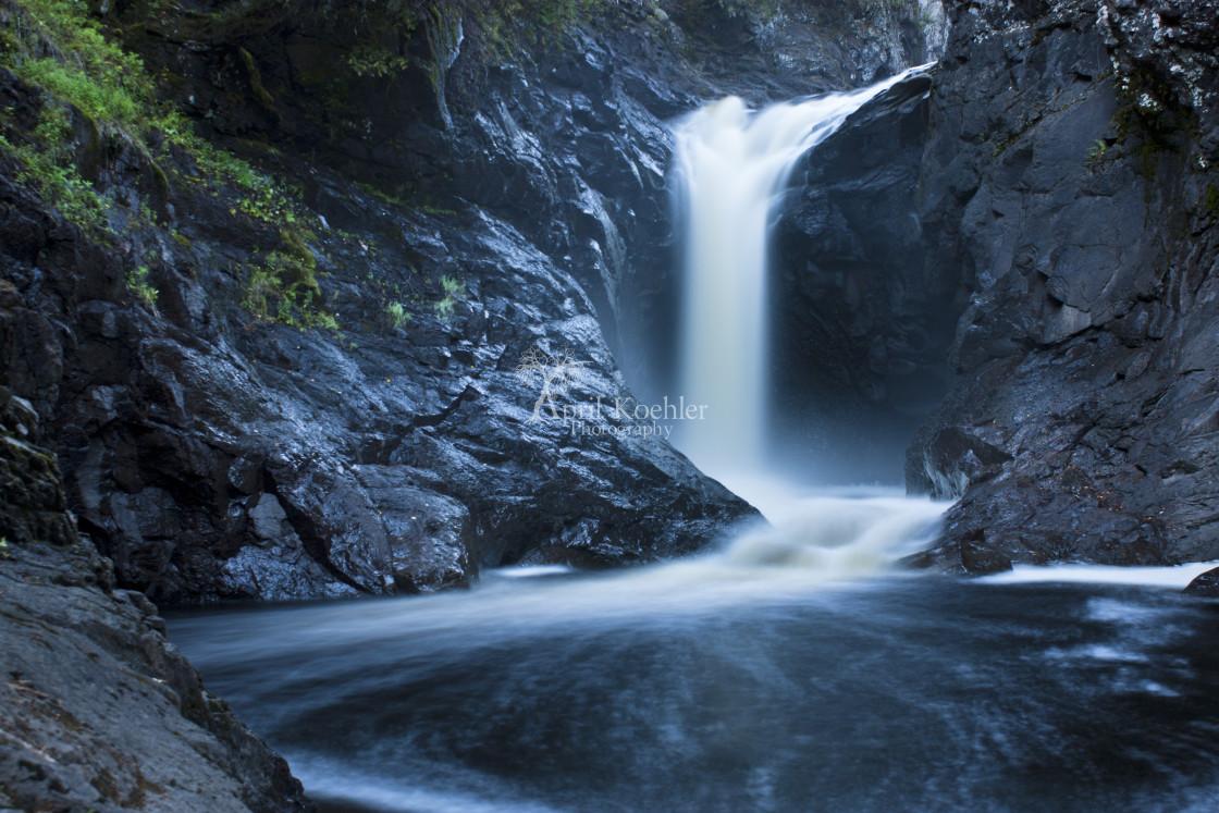 """""""Hidden Beauty- Cascade River"""" stock image"""