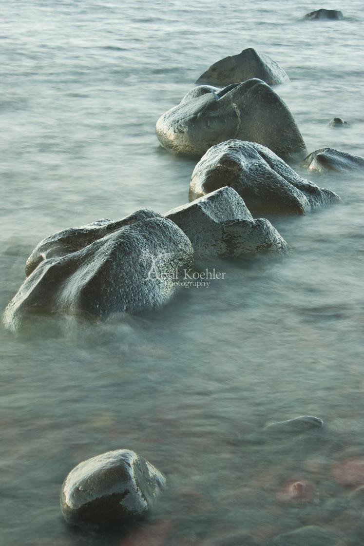 """Rocks in Water"" stock image"