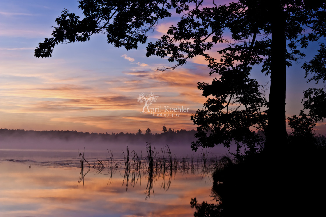 """Sheriff Lake Sunrise"" stock image"