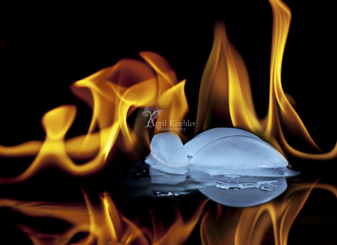 """Fire and Ice"" stock image"