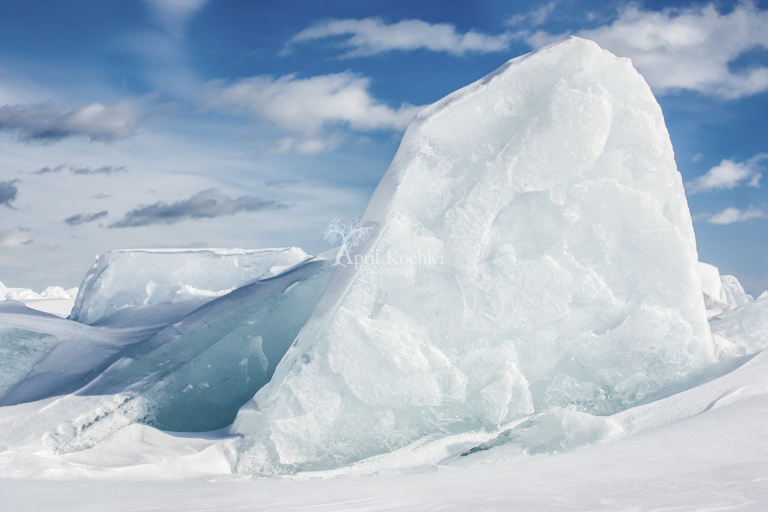"""Ice and Blue Skies"" stock image"