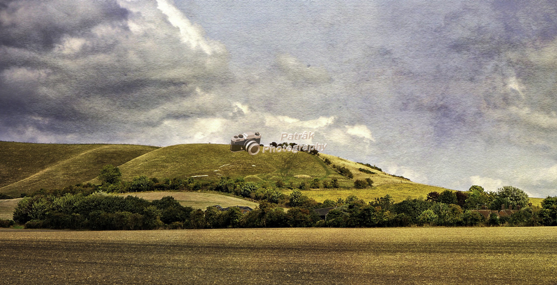 """""""The Pewsey Down Hills #3"""" stock image"""