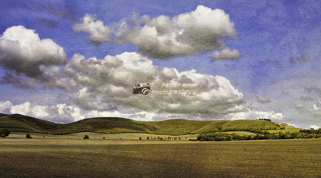 """""""The Pewsey Down Hills #2"""" stock image"""