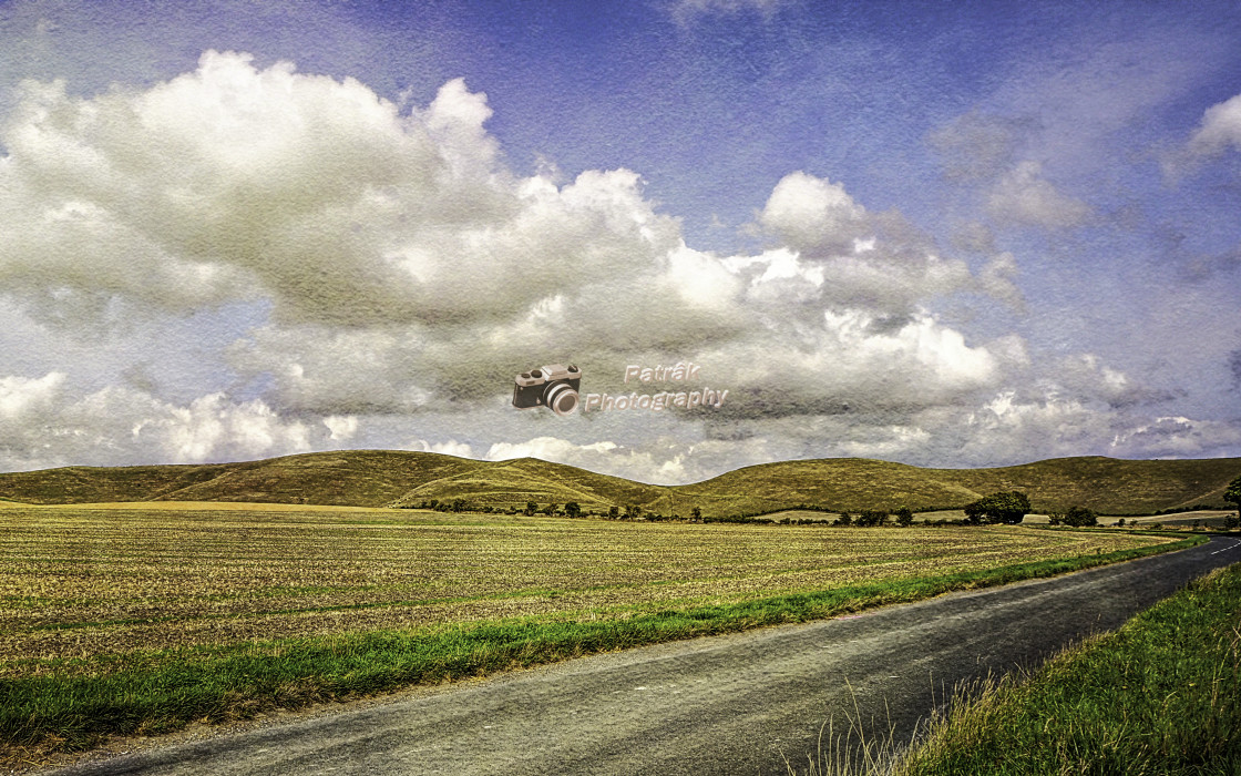 """""""The Pewsey Down Hills #1"""" stock image"""