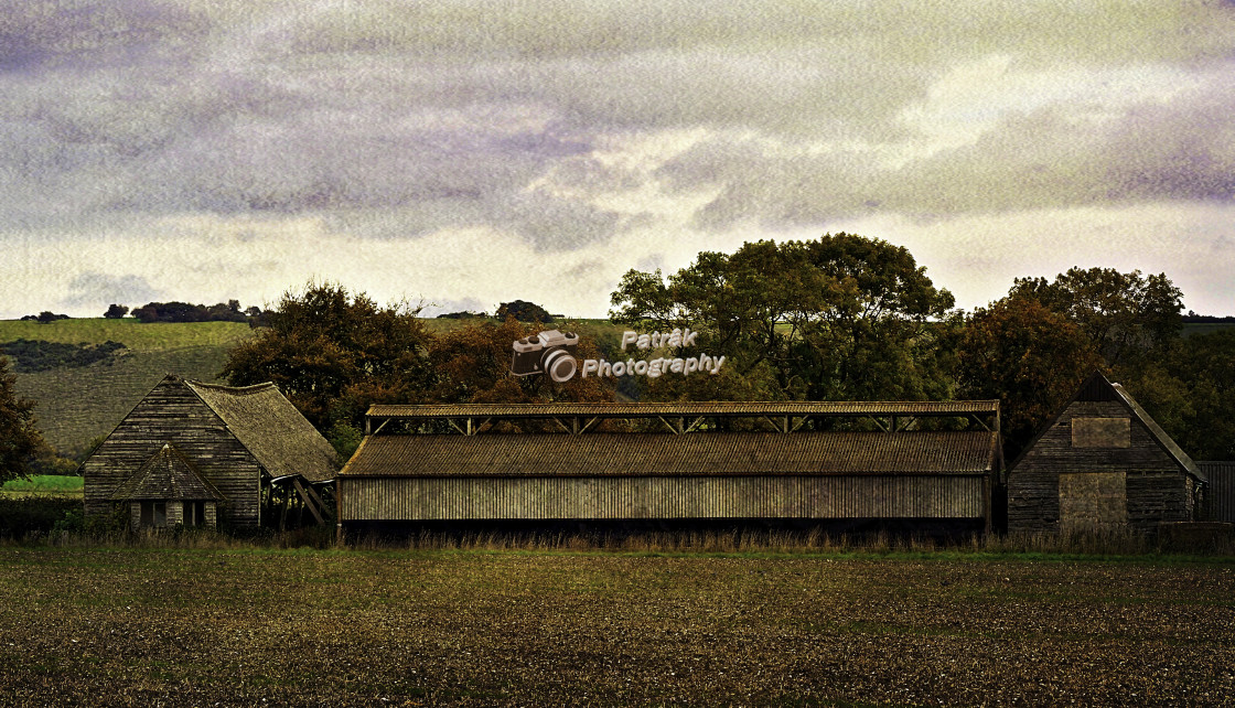 """Old Barns"" stock image"