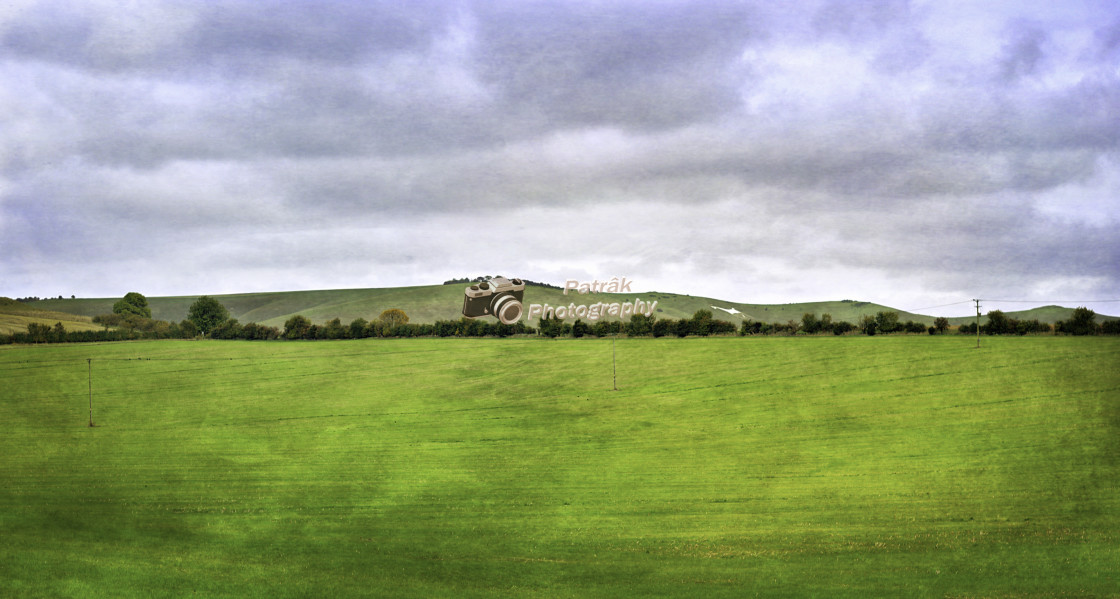 """""""A Glimpse of the White Horse"""" stock image"""
