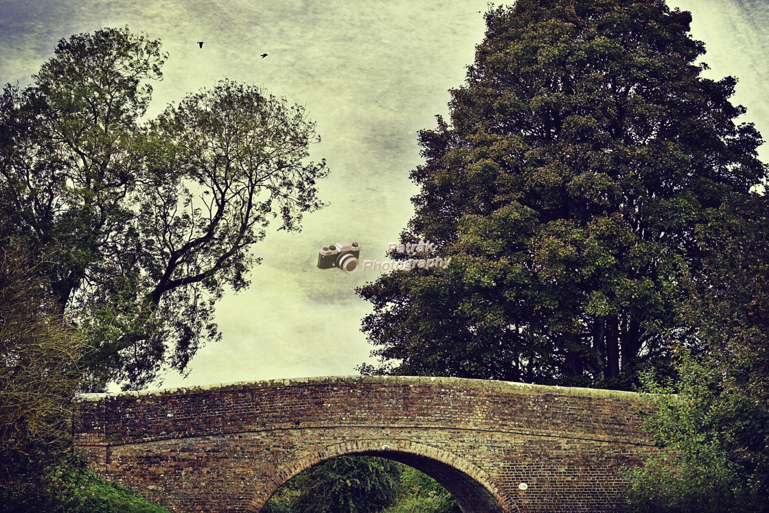 """""""Canal Bridge over the Kennet & Avon Canal"""" stock image"""
