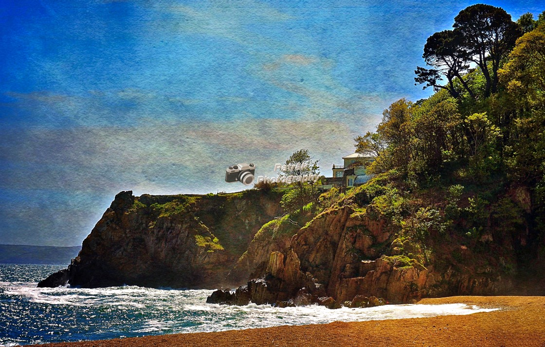 """""""Clifftop House #1"""" stock image"""