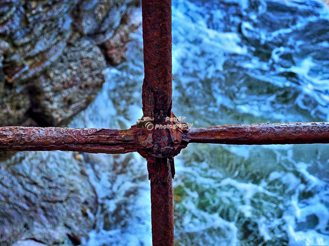 """Rusty Iron Window"" stock image"