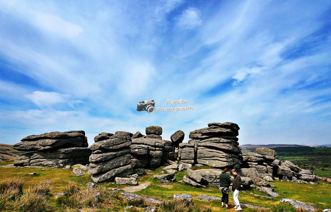 """Exmoor Rock Formations #1"" stock image"