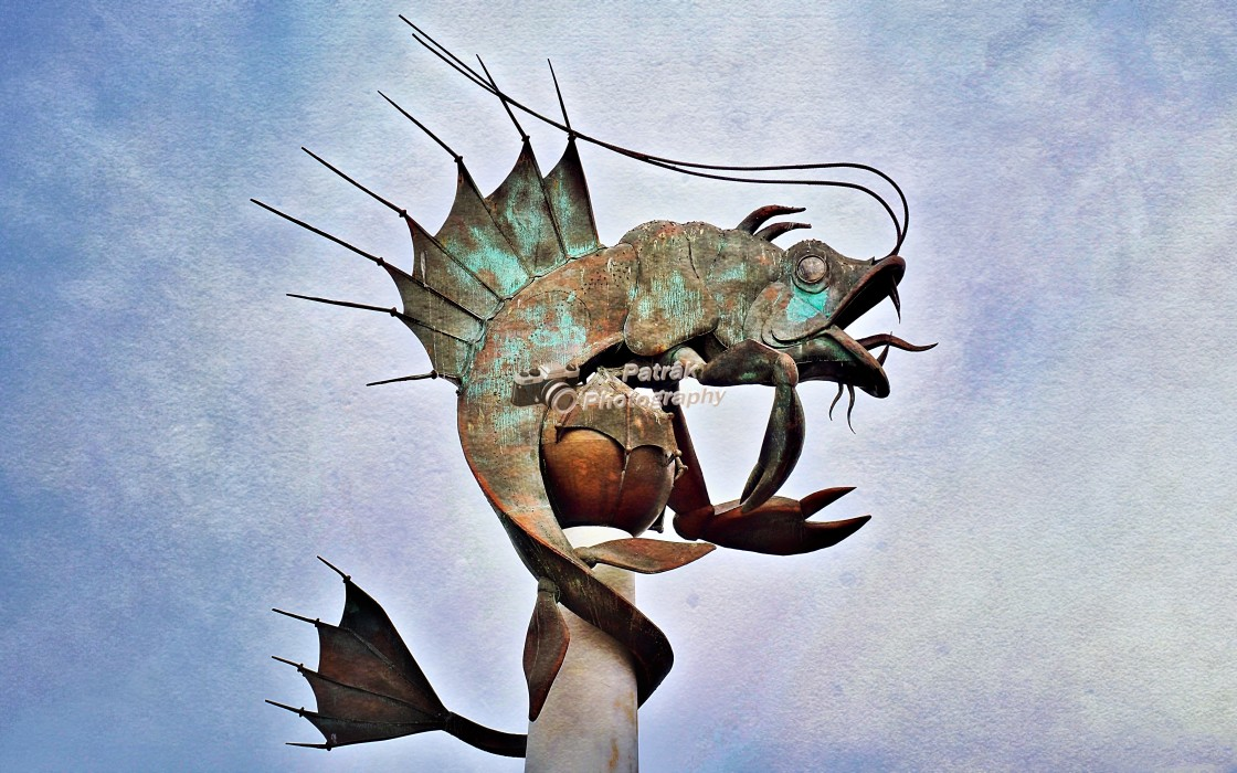 """""""The Leviathan Sculpture"""" stock image"""