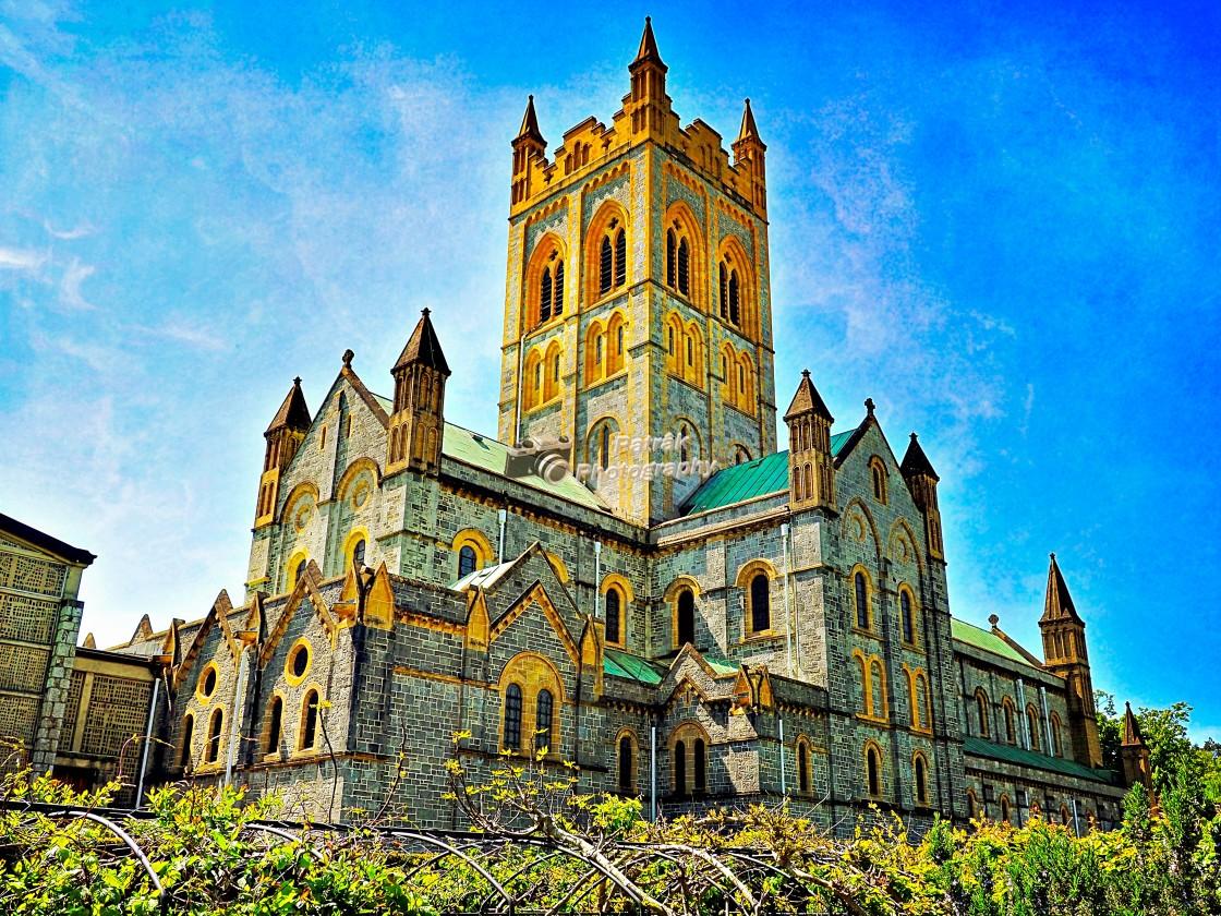 """""""Buckfast Abbey - Devon"""" stock image"""