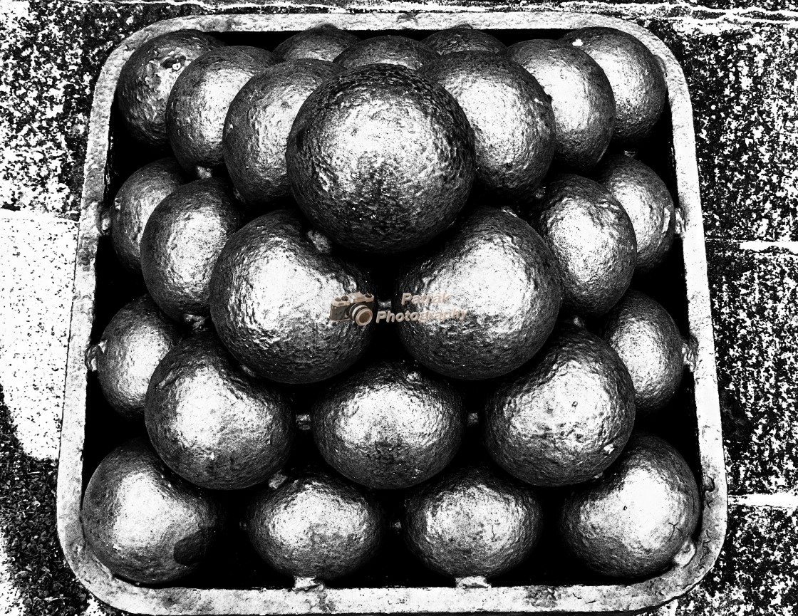 """""""Cannon Ball Stack"""" stock image"""