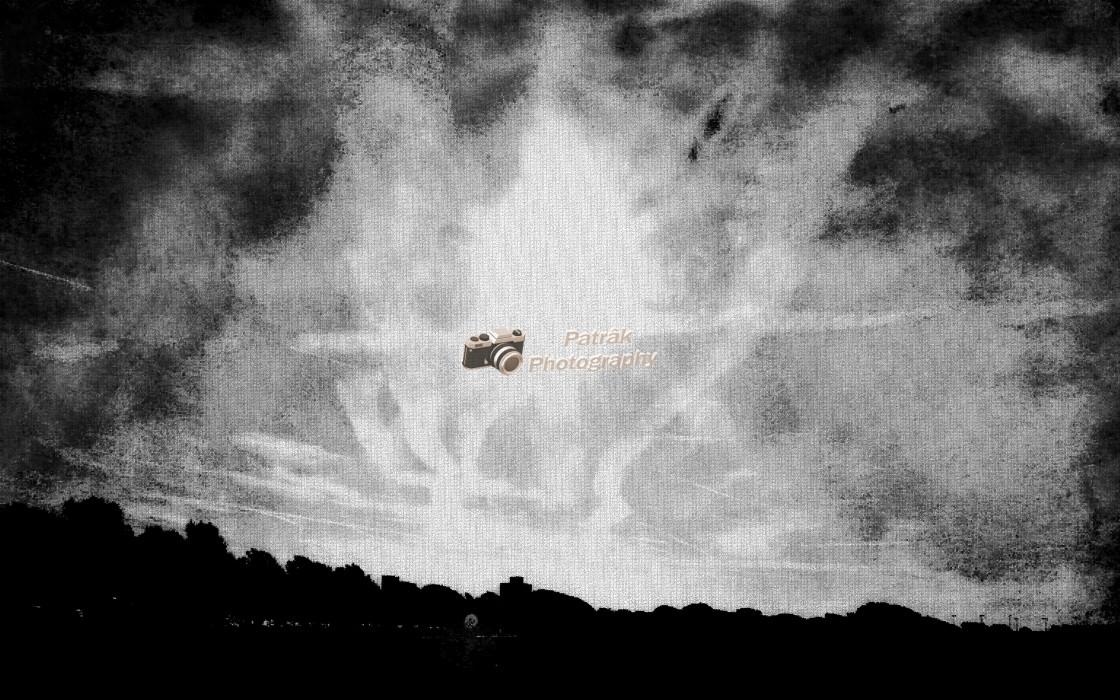 """Chem Trail Silhouette"" stock image"