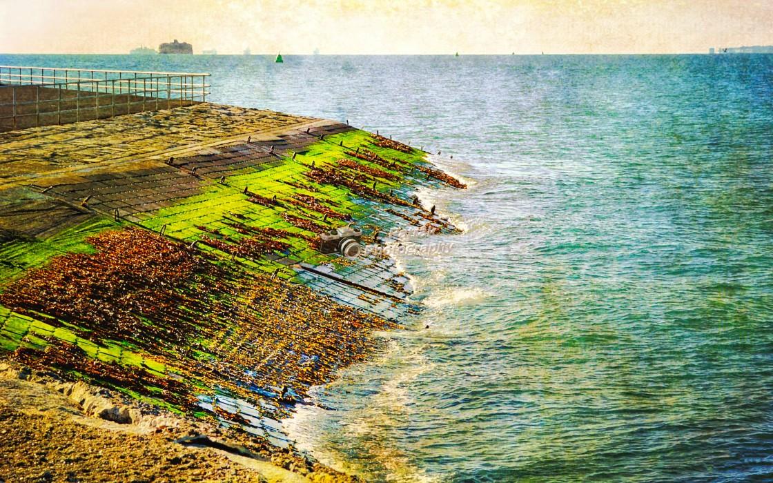 """Sea Defences - Southsea Castle"" stock image"
