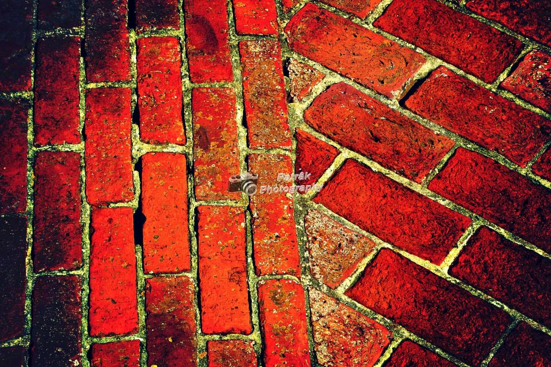 """Red Brick Pathway"" stock image"