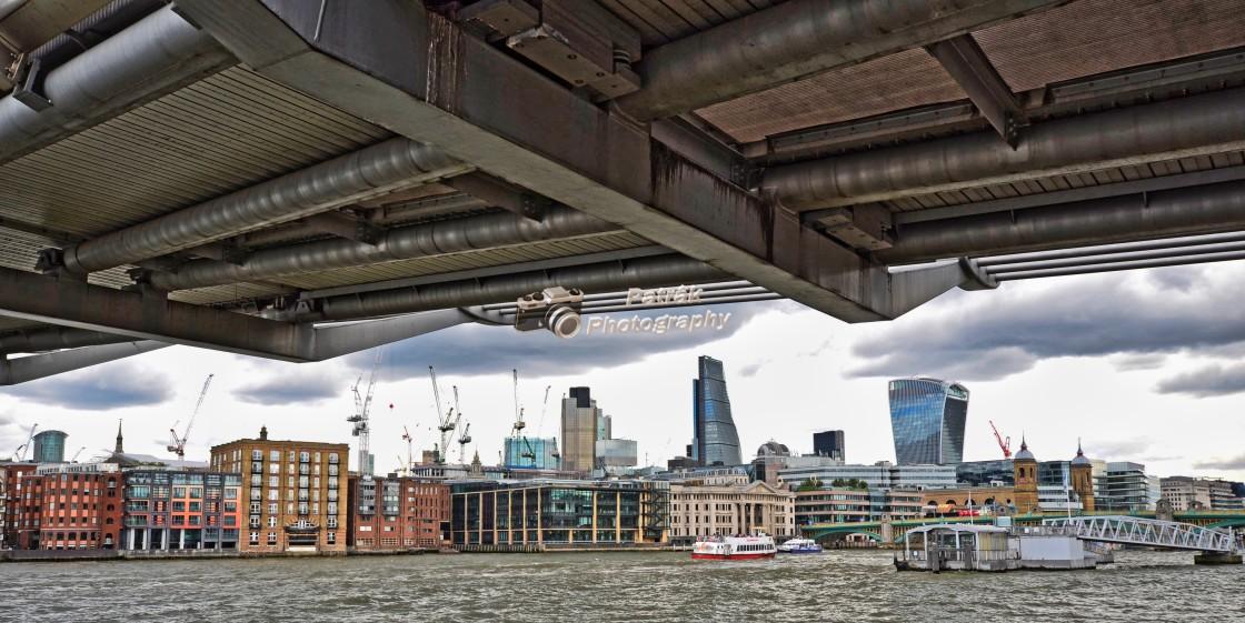 """London Cityscape From Underneath Lambeth Bridge"" stock image"