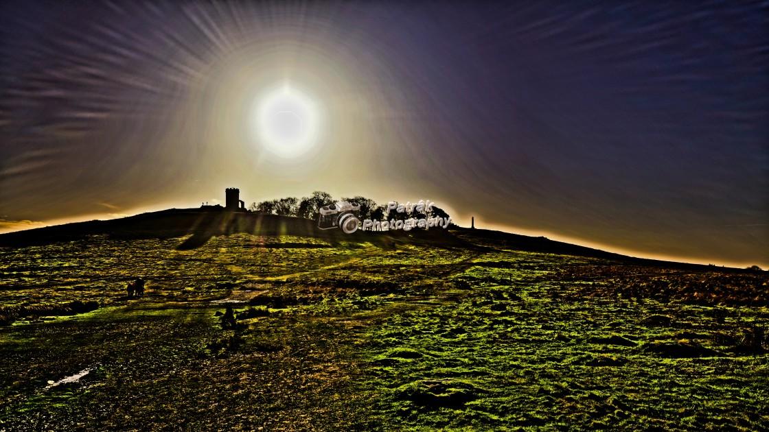 """Burning Sun Over Bradgate Park"" stock image"