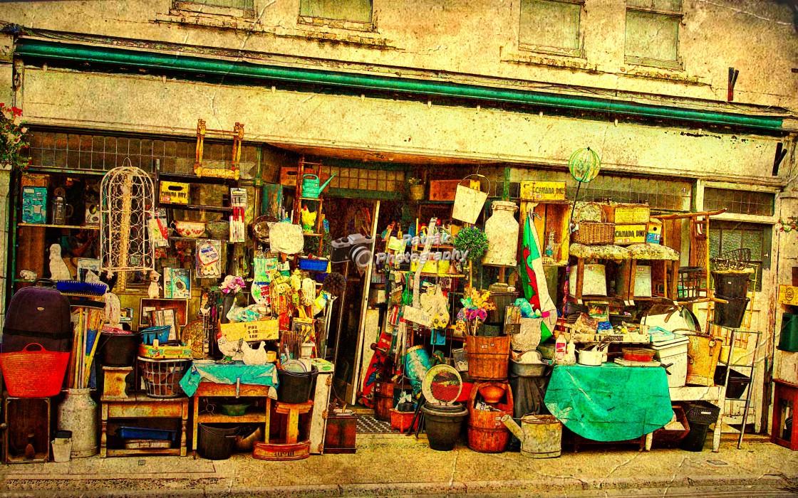 """Traditional Hardware Store - Usk, Herefordshire"" stock image"