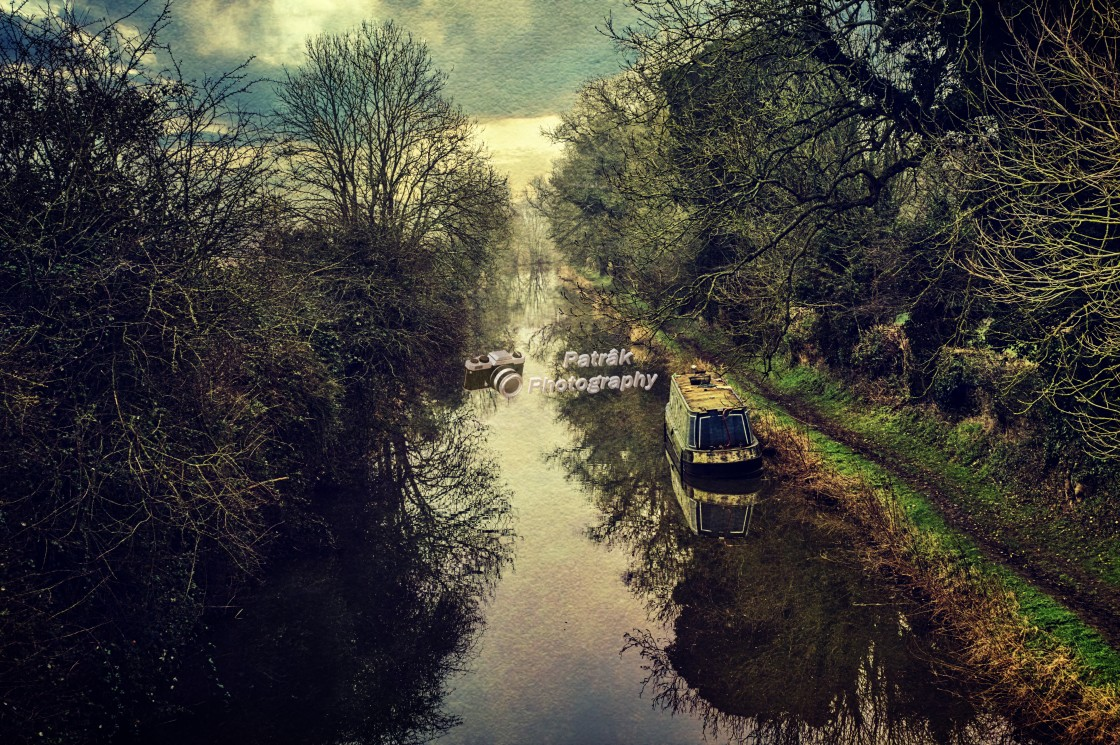 """""""The Beautiful Canal - Milton Lilbourne, Wiltshire"""" stock image"""