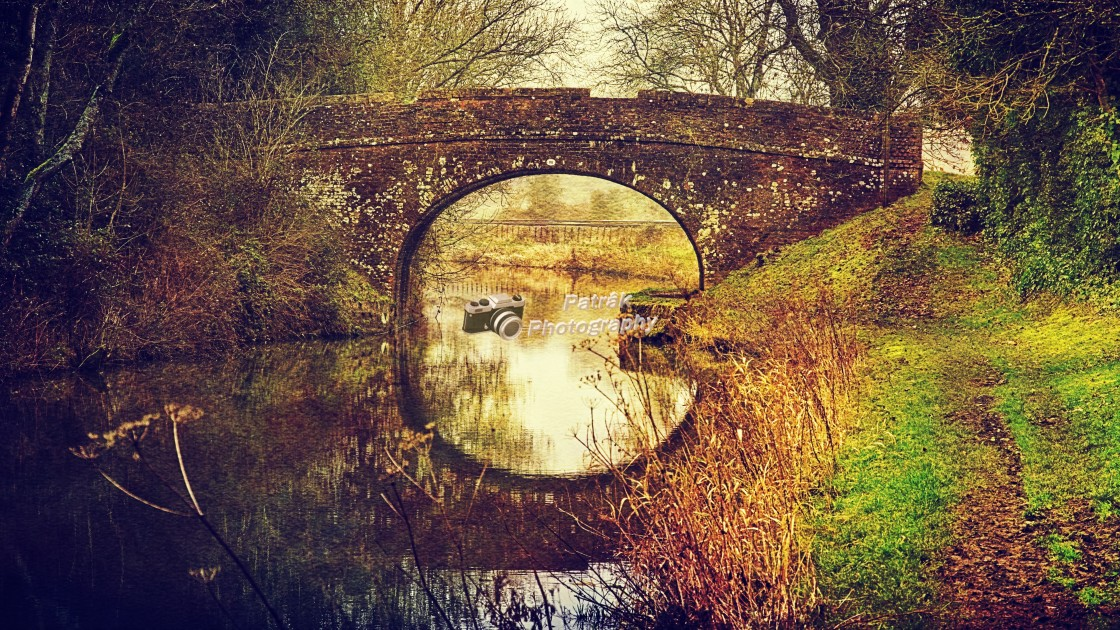 """""""Where Canal Meets Railway - Milton Lilbourn, Wiltshire"""" stock image"""