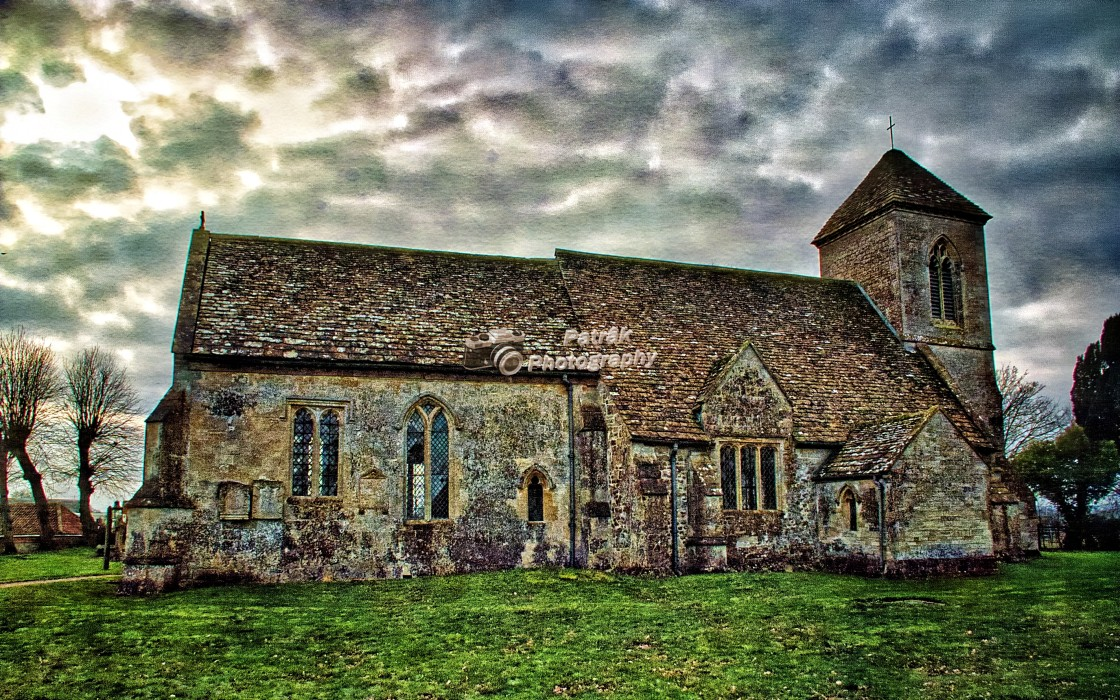 """""""St Peters Church - Poulshot, Wiltshire, England"""" stock image"""