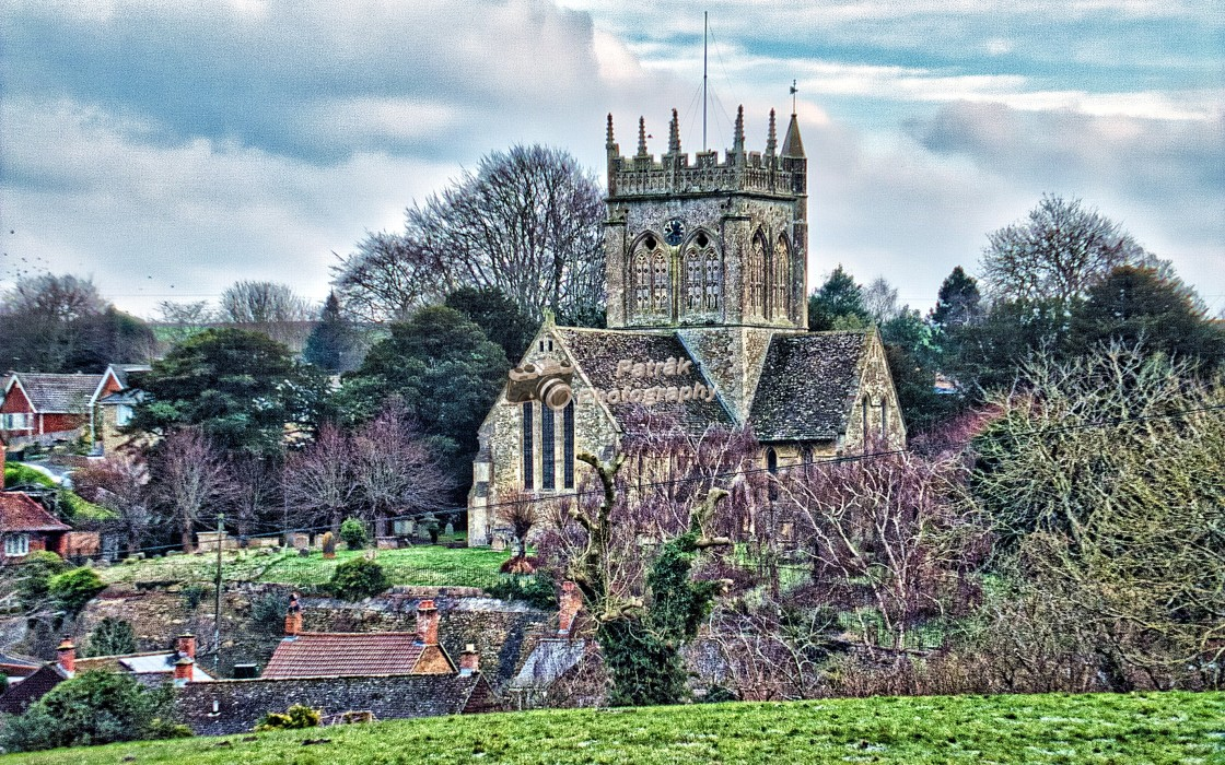 """""""St Mary's Church - Potterne, Wiltshire, England"""" stock image"""