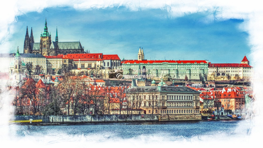 """Prague Castle & St Vitus Cathedral"" stock image"