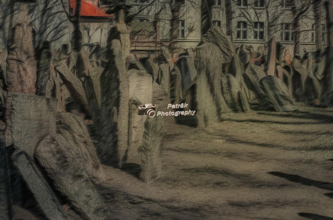 """Gravestones - Jewish Quarter - Prague"" stock image"